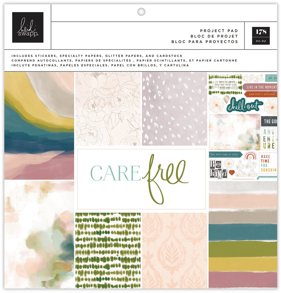 12X12 Project Pad, Care Free (Champagne Foil)