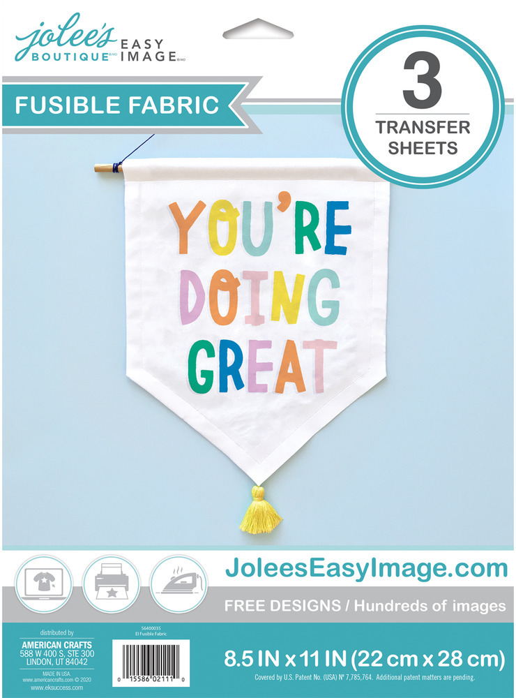 Easy Image Transfer Paper, Fusible Fabric - Light (3 Sheets)
