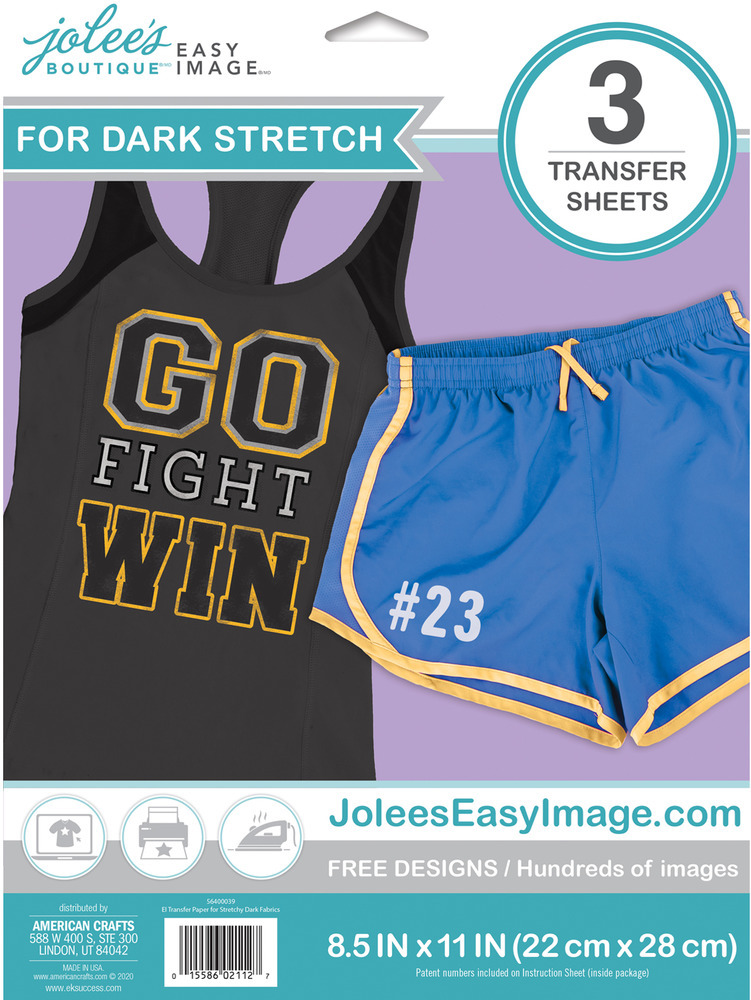 Easy Image Transfer Paper, Stretchy - Dark (3 Sheets)