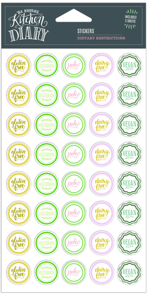 Kitchen Diary Stickers, Dietary 1