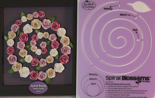 Spiral Blossom Template