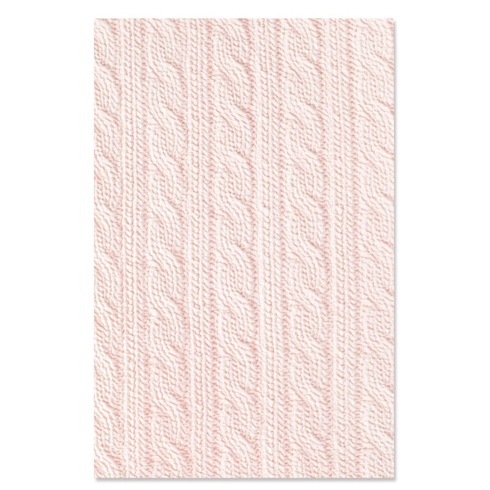 3D Textured Impressions Embossing Folder, Sweater