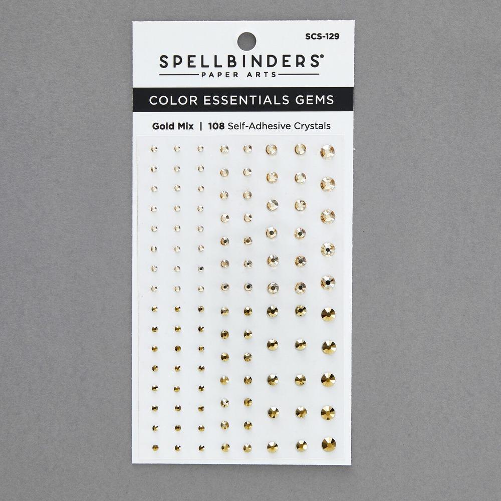 Color Essentials Self Adhesive Gems, Gold Mix