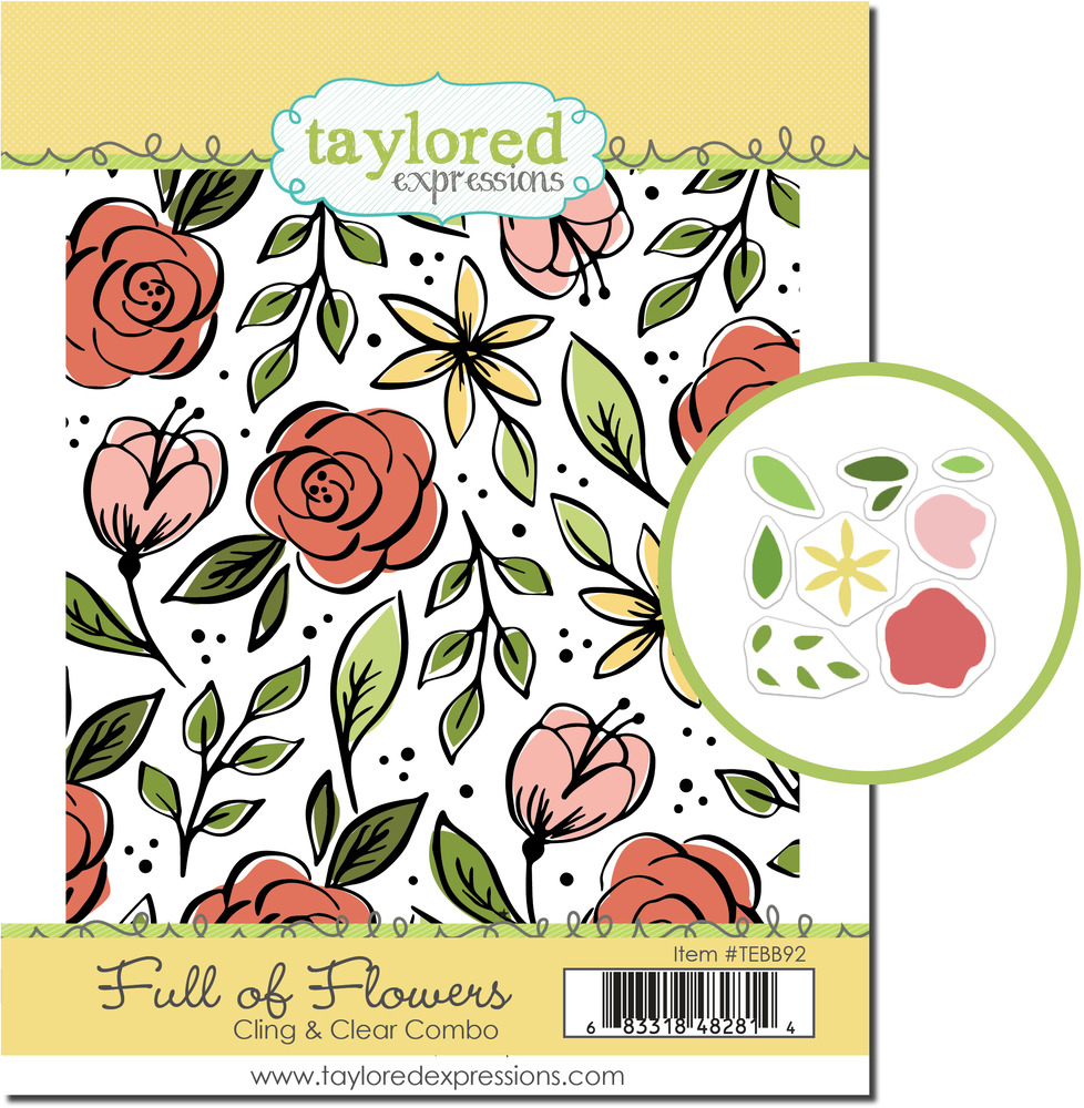 Cling & Clear Stamp Combo, Full of Flowers