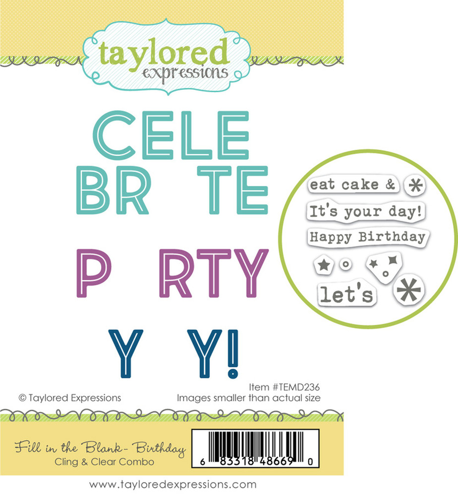 Cling & Clear Stamp Combo, Fill in the Blank - Birthday