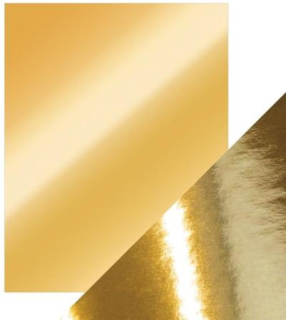 8.5X11 Mirror Cardstock, Gloss - Polished Gold (5/Pk)