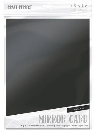 8.5X11 Mirror Cardstock, Satin - Black Velvet (5/Pk)