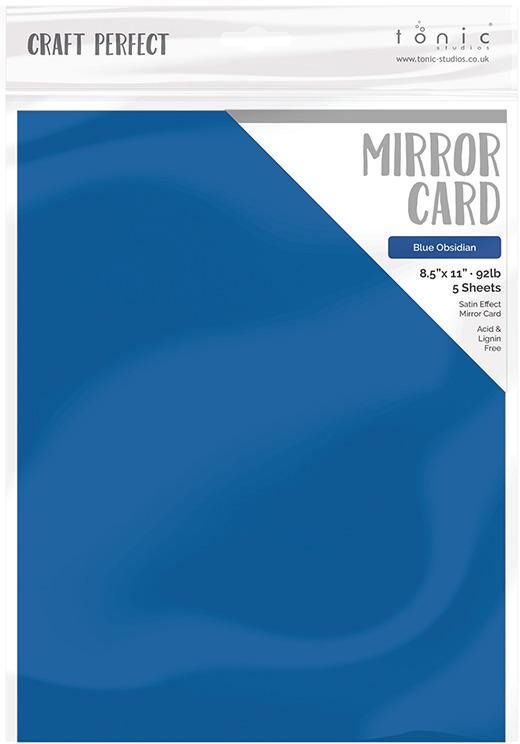 8.5X11 Mirror Cardstock, Gloss Blue Obsidian (5/pk)