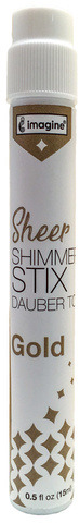 Sheer Shimmer Stix Dauber Top, Gold