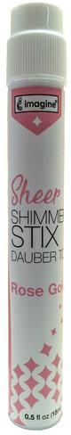 Sheer Shimmer Stix Dauber Top, Rose Gold