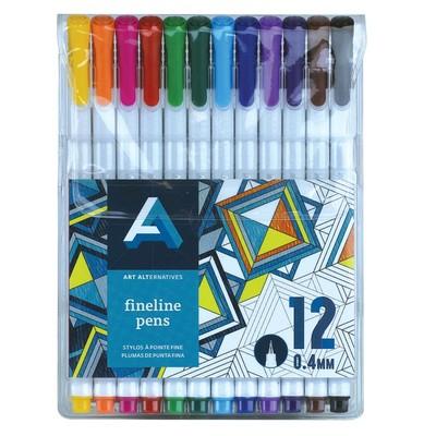 Fineline Pen Set, 12 Piece