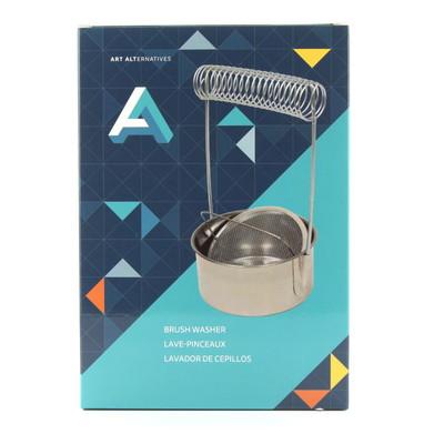 Stainless Steel Brush Washer & Spiral Brush Holder