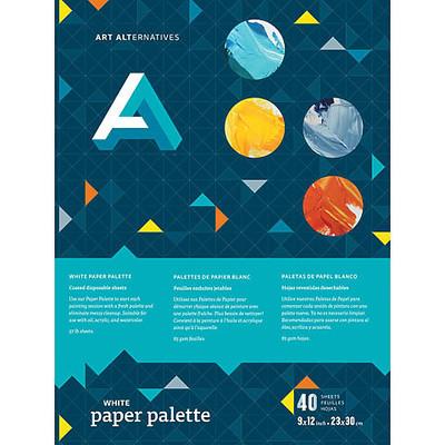 """Palette, Paper - White 9"""" x 12"""""""