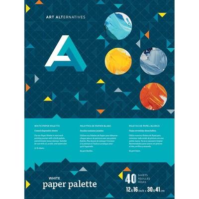 """Palette, Paper - White 12"""" x 16"""""""