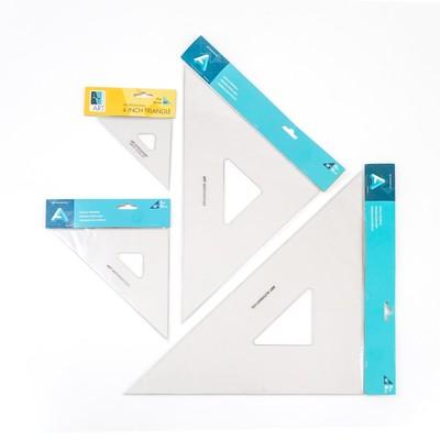 "Acrylic Triangles, 6"" 45 Deg w/Inking Edges"