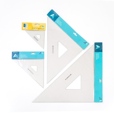 "Acrylic Triangles, 4"" 60 Deg w/Inking Edges"