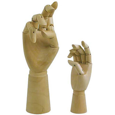 """Articulated Wooden Hand, 12"""" Right Hand"""