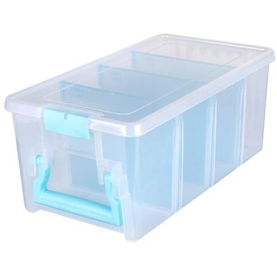 Box, Super Semi-Satchel - Aqua Accents