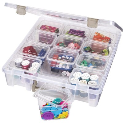 Super Satchel with Small Bins (Clear)