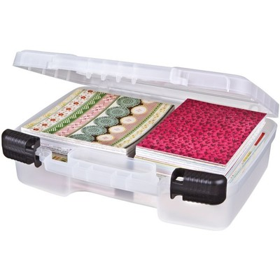 """Case, 12"""" Quick View Carrying Case-Deep Base - Clear"""