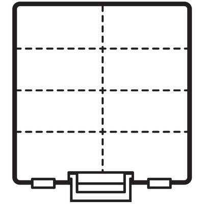Box, Super Satchel Double Deep - Clear w/Removeable Divider