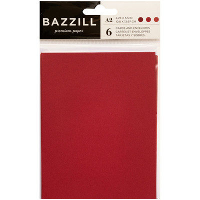 Card & Envelope Pack, A2 - Reds