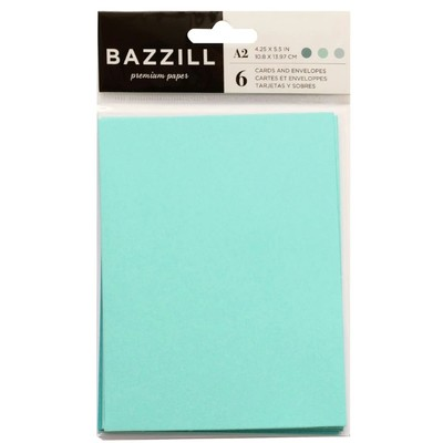 Card & Envelope Pack, A2 - Seafoam