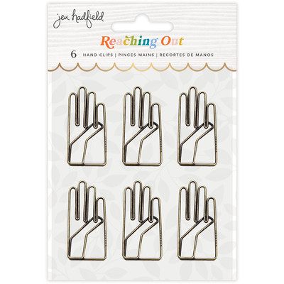 Hand Clips, Reaching Out (Gold Foil)