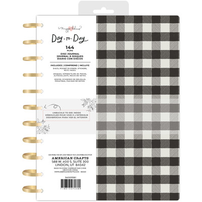 8.5X11 Journal, Disc Planner - Black and White Checkerboard