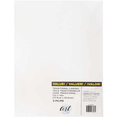 Art Supply Basics Stretched Canvas, 11X14 (2pc)