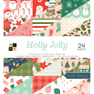 6X6 Premium Stack, Holly Jolly