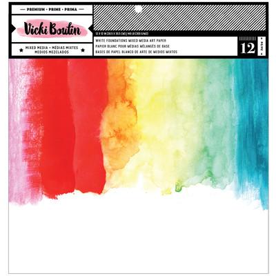 12X12 Foundations Mixed Media Art Paper, White 140lb