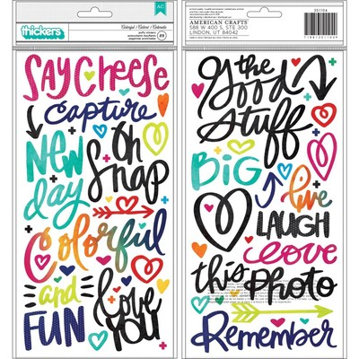 Thickers, Color Kaleidoscope - Colorful - Phrase/Icons - Puffy