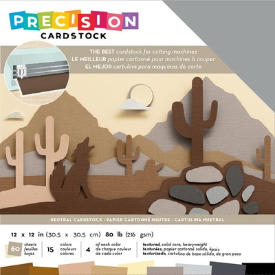 12X12 Precision Cardstock Pack, Textured - Neutral