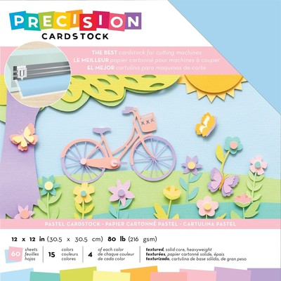 12X12 Precision Cardstock Pack, Textured - Pastel