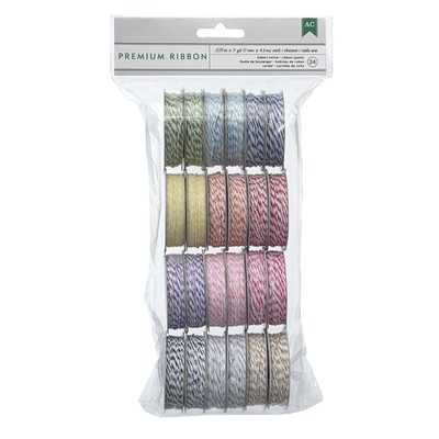 Ribbon Value Pack, Bakers Twine - Brights (24 Spools)