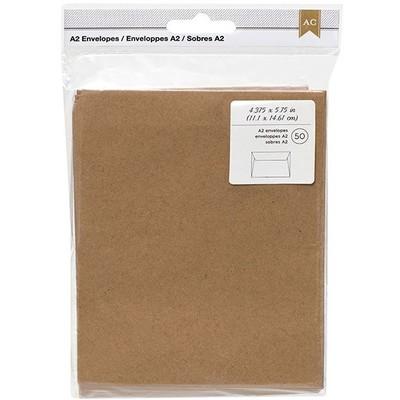 Envelopes, A2 - Kraft (50pc)