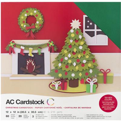 12X12 Cardstock Variety Pack (60pk), Christmas