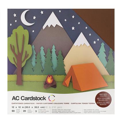 12X12 Cardstock Variety Pack (60pk), Earthtones