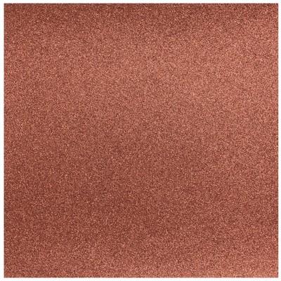 12X12 Glitter Silk Cardstock, Bronzed