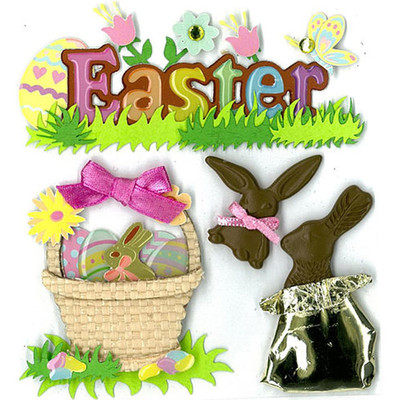 Dimensional Stickers, Easter Chocolate Bunnies