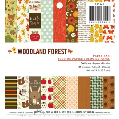 6X6 Paper Pad, Woodland Forest