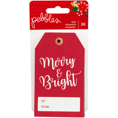 Tags, Cozy & Bright - Cardstock (36 Pc)