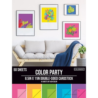 Colorbok 8.5X11 Cardstock Pack, Color Party