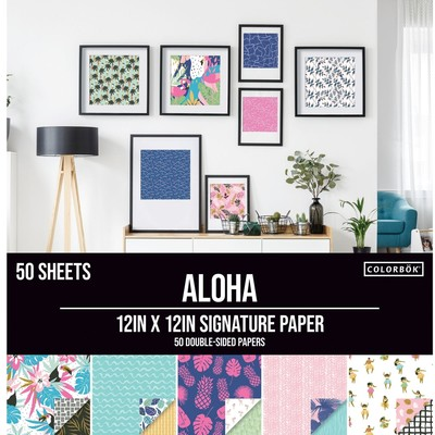 Colorbok 12X12 Signature Paper Pack, Aloha