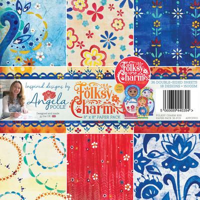 8X8 Paper Pack, Folksy Charm