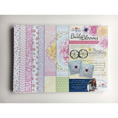 A4 Card Pack, Cut & Craft - Buds to Blooms