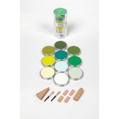 PanPastel Set, Greens (10 Colors)