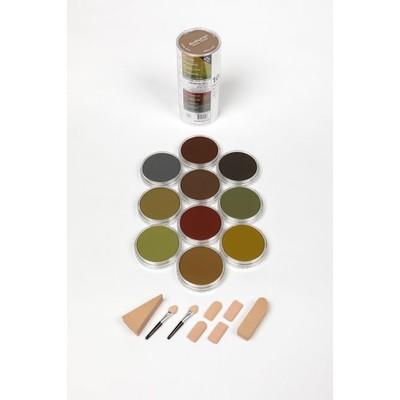 PanPastel Set, Extra Dark Shades Warm (10 Colors)