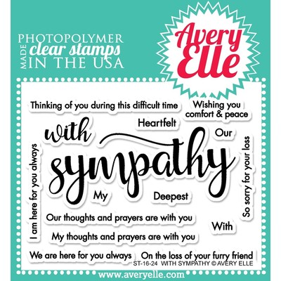 Clear Stamp, With Sympathy